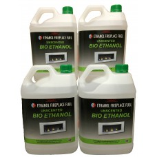 Unscented Bio Ethanol Fireplace Fuel - 4 X 5 Litres ( 20 Litres)